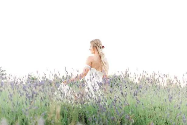 Romantic Wedding Inspiration in a Lavender Field