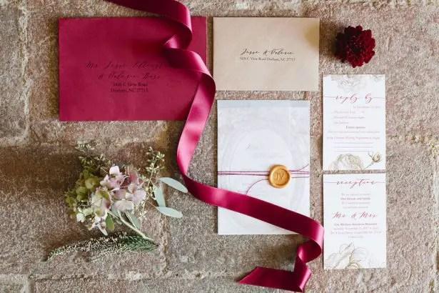 Gold and Burgundy Wedding Details for Elegant Elopement in Tuscany