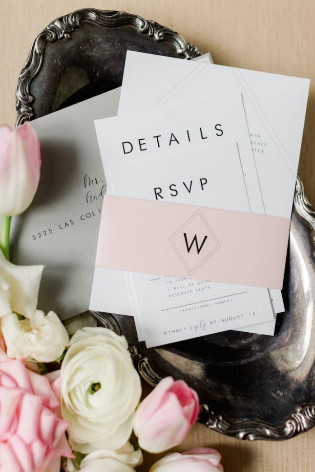 Classic wedding invitations- Krystle Akin Photography