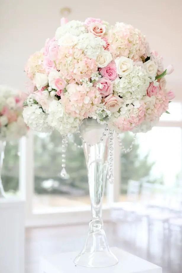 Blush Tall Wedding centerpiece- Krystle Akin Photography