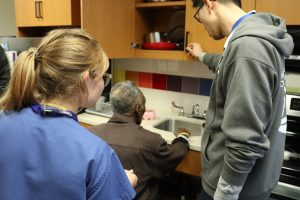 the Auxiliary to Bellevue Hospital unveiled a newly renovated Rehabilitation Medicine kitchen