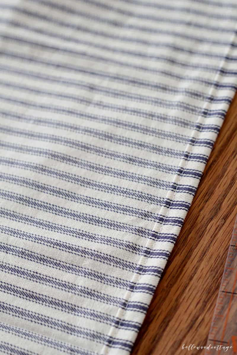 ticking stripe pillow cover tutorial
