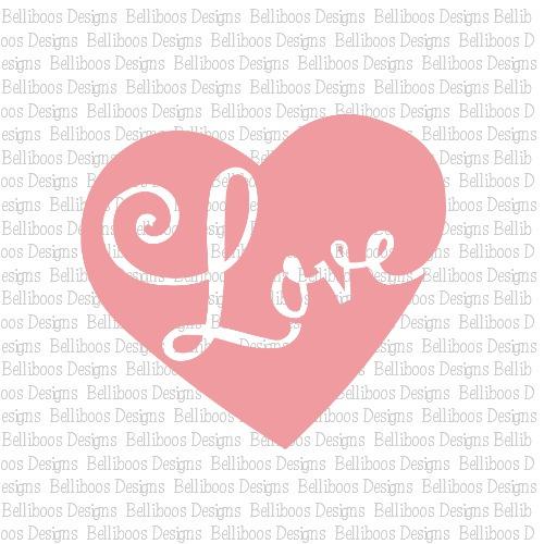 Download Belliboos Heart Love SVG Cut File
