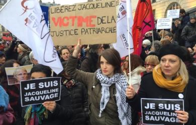 Manifestation de soutien à Jacqueline Sauvage, Place de la République à Paris en janvier (JDD)
