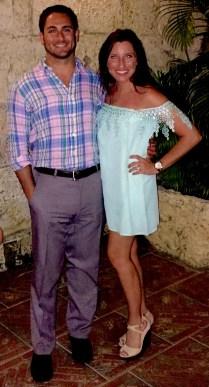 Honeymoon in Punta Cana - at dinner