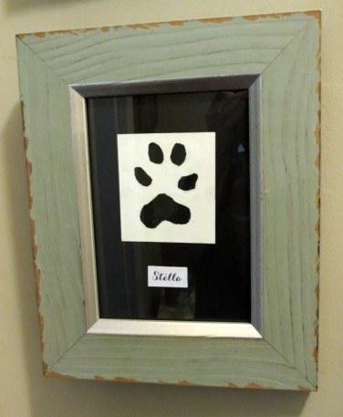 Framed Animal Paw Prints - Stella's Paw