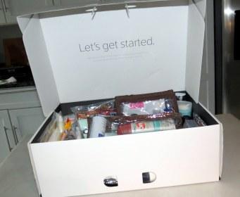 DIY - Wedding Emergency Kit - Xfinity box (interior)
