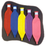 Breathing Bags, Conductive, Assorted Colors, 22mm Neck Insert, Disposable, 0.5 or 1 Liter