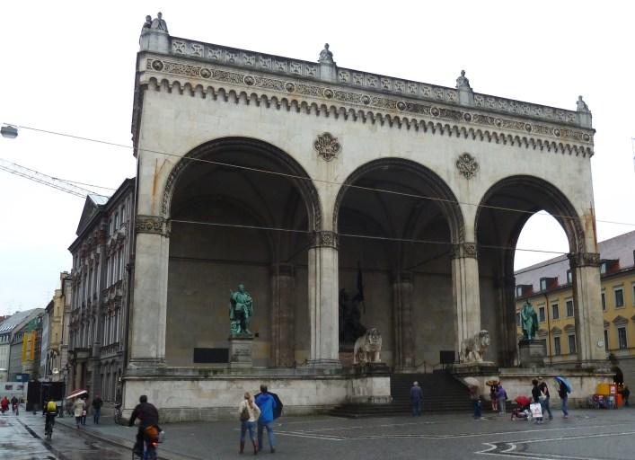 The Feldherrnhalle, where Hitler spoke during his failed coup in 1923