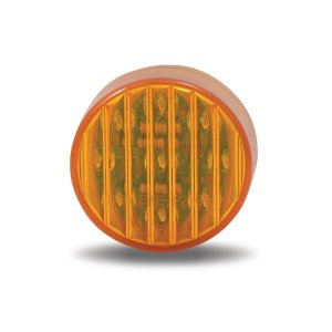"Trux Accessories 2"" Amber Ribbed LED Marker Light- Front"