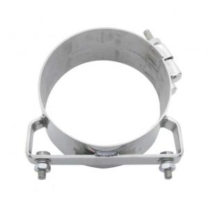 Bells-And-Whistles-Chrome-Shop-Trucks-Aftermarket-Accessories-Exhaust-United Pacific-Wide Band Exhaust Clamp-Peterbilt-Kenworth-Freightliner-Mack-Volvo-Lonestar