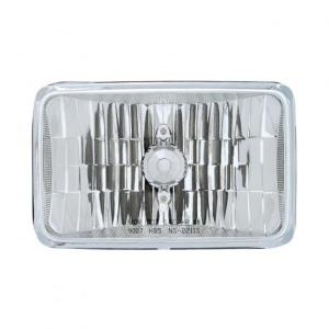 "United Pacific 4"" x 6"" Crystal Headlight - High & Low Beam"