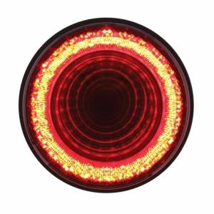 "United Pacific 24 LED 4"" Mirage Stop, Turn & Tail Light - Red LED/Red Lens"