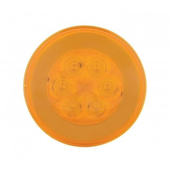 """United Pacific 4"""" GLO Turn Signal Light- Amber/Amber- Off"""
