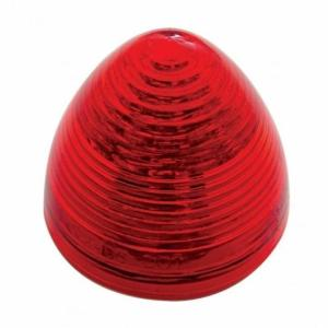 "United Pacific 13 LED 2 1/2"" Beehive Clearance/Marker Light - Red LED/Red Lens- Off, Side View"