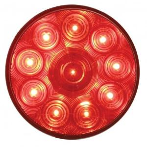 "United Pacific 10 LED 4"" Stop, Turn & Tail Light - Red LED/Red Lens"