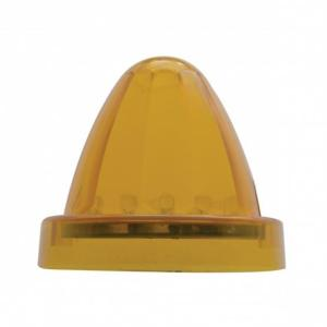 United Pacific 13 LED Watermelon Truck-Lite Style Cab Light - Amber LED/Amber Lens