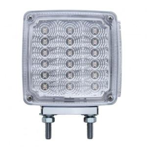 United Pacific 39 LED Reflector Double Face Turn Signal Light (Driver) - Amber & Red LED/Clear Lens