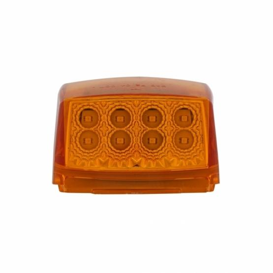 United Pacific Amber Reflector Square Cab Light- Light Off Front View
