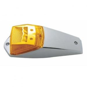 United Pacific 17 LED Amber Reflector Square Cab Light Kit Side View