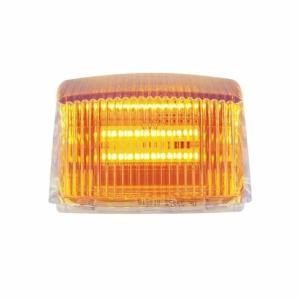 United Pacific 36 LED Square Cab Light - Amber LED/Clear Lens