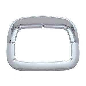 United Pacific Single Headlight Bezel with Visor