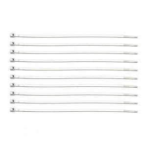 United Pacific Chrome Plastic Cable Ties 10 Pack