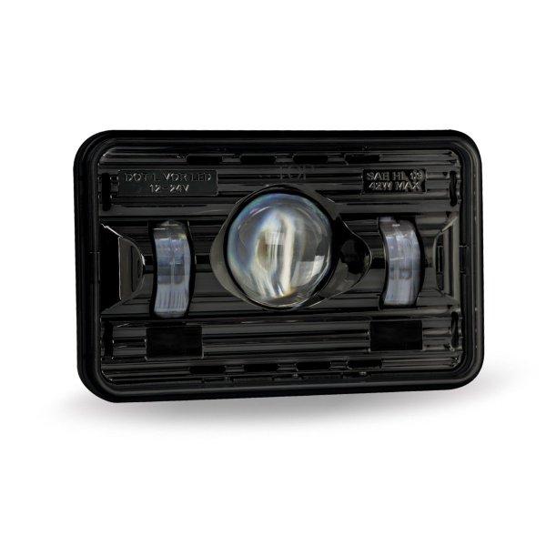 "Trux Accessories 4"" x 6"" Premium LED Projector Headlight - Black, High Beam"