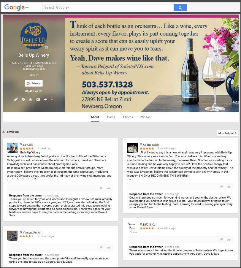 Bells Up reviews on Google+