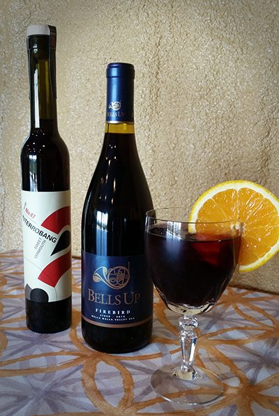 Bells Up Winery's Bellobang Cocktail features Interrobang's Sweet Vermouth.