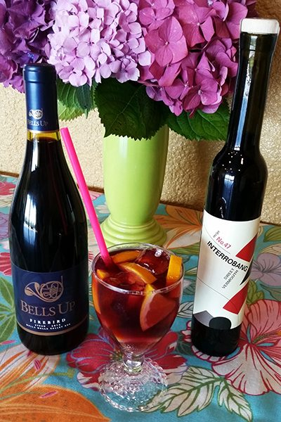 Bells Up Winery's Bellobang Sangria features Firebird Syrah and Interrobang Sweet Vermouth.