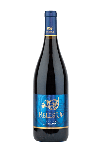 "2015 Titan Willamette Valley Pinot Noir 116 cases produced. $40  Named for Gustav Mahler's Symphony No. 1 in D Major ""Titan,"" this edition of Bells Up's flagship Oregon pinot noir mingles 42% Yamhill-Carlton Pommard (6-year-old vines) with 29% each of Yamhill-Carlton Dijon clones 115 and 777 (16-year-old vines), all grown in sedimentary Willakenzie soil. Aged 7 months in French oak (30% new), this bold, fruit-forward, well-structured Pinot is a result of 2015's extremely hot summer, with 25 days of 95-plus-degree heat during the growing season and very little rain. The small clusters and berries yielded intensified flavors and aromas. WINE ENTHUSIAST SCORE: 90."
