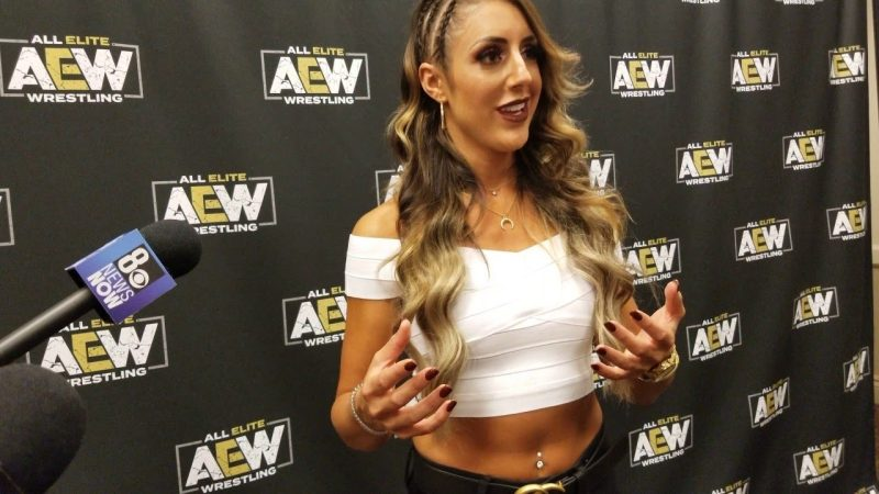 Britt Baker suffered a concussion at Fight for the Fallen