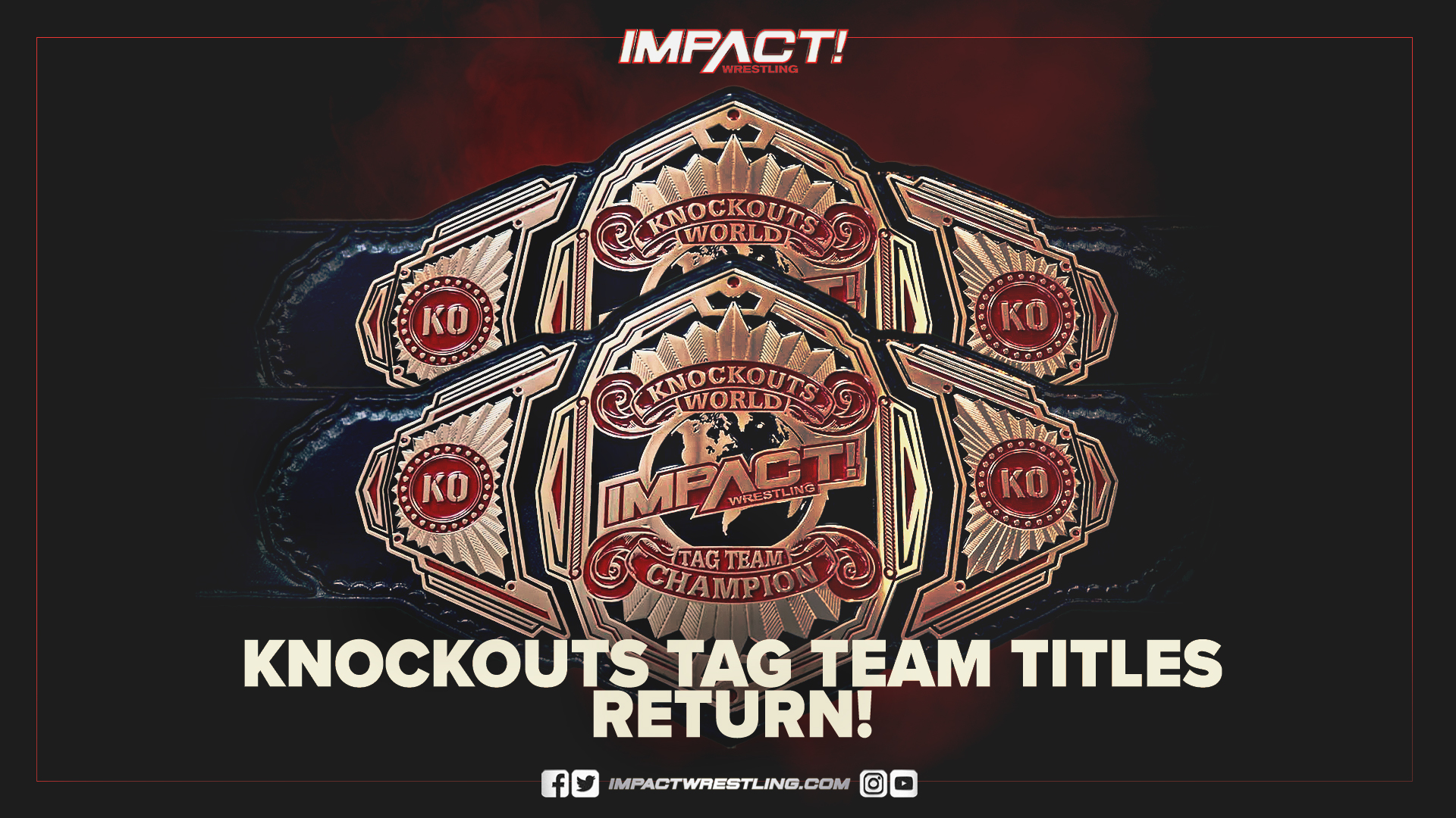 """Knockouts Tag Team Titles to return at """"Hard To Kill"""""""