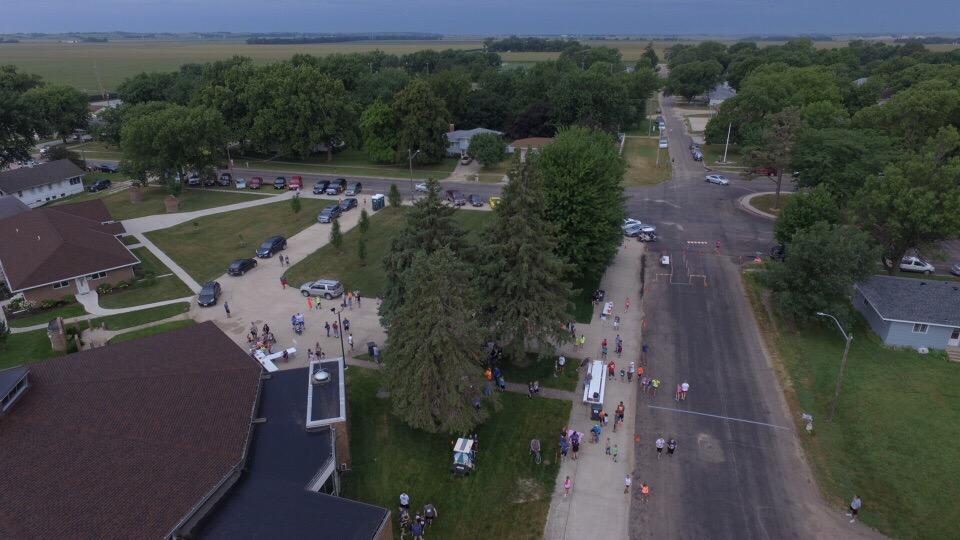 Race start - drone view