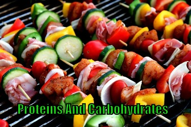 proteins and carbohydrates.