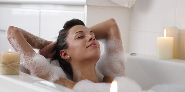 Take a hot bath for an hour before bed