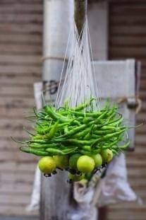 Nimbu Mirchi (lime chilli) to ward off evil spirits