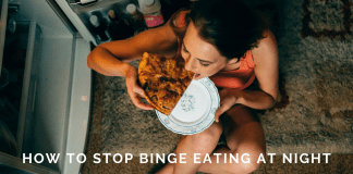 how to stop binge eating at night