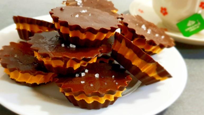 חטיף שוקולד וחמאת בוטנים דל בפודמאפ, Low FODMAP peanut butter and chocolate rounds