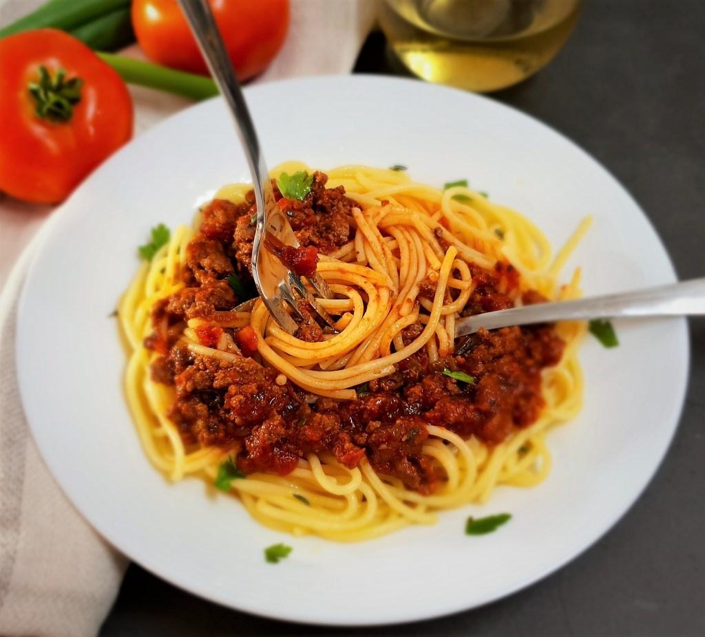 ספגטי בולונז דל בפודמאפ, Low FODMAP spaghetti Bolognese