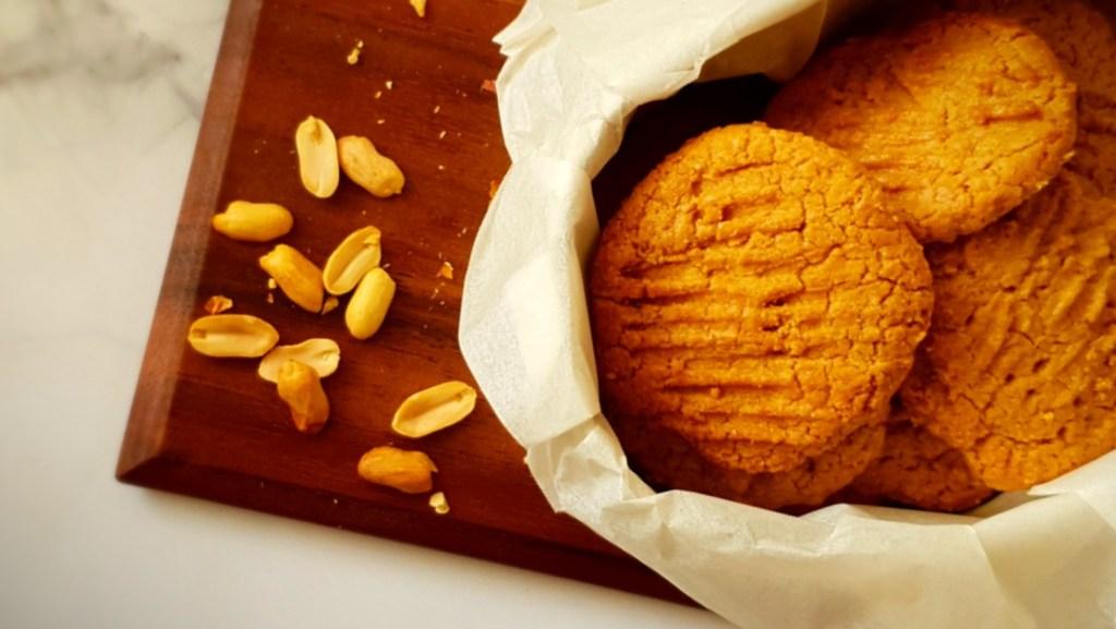 עוגיות חמאת בוטנים דל בפודמאפ, Low FODMAP peanut butter cookies