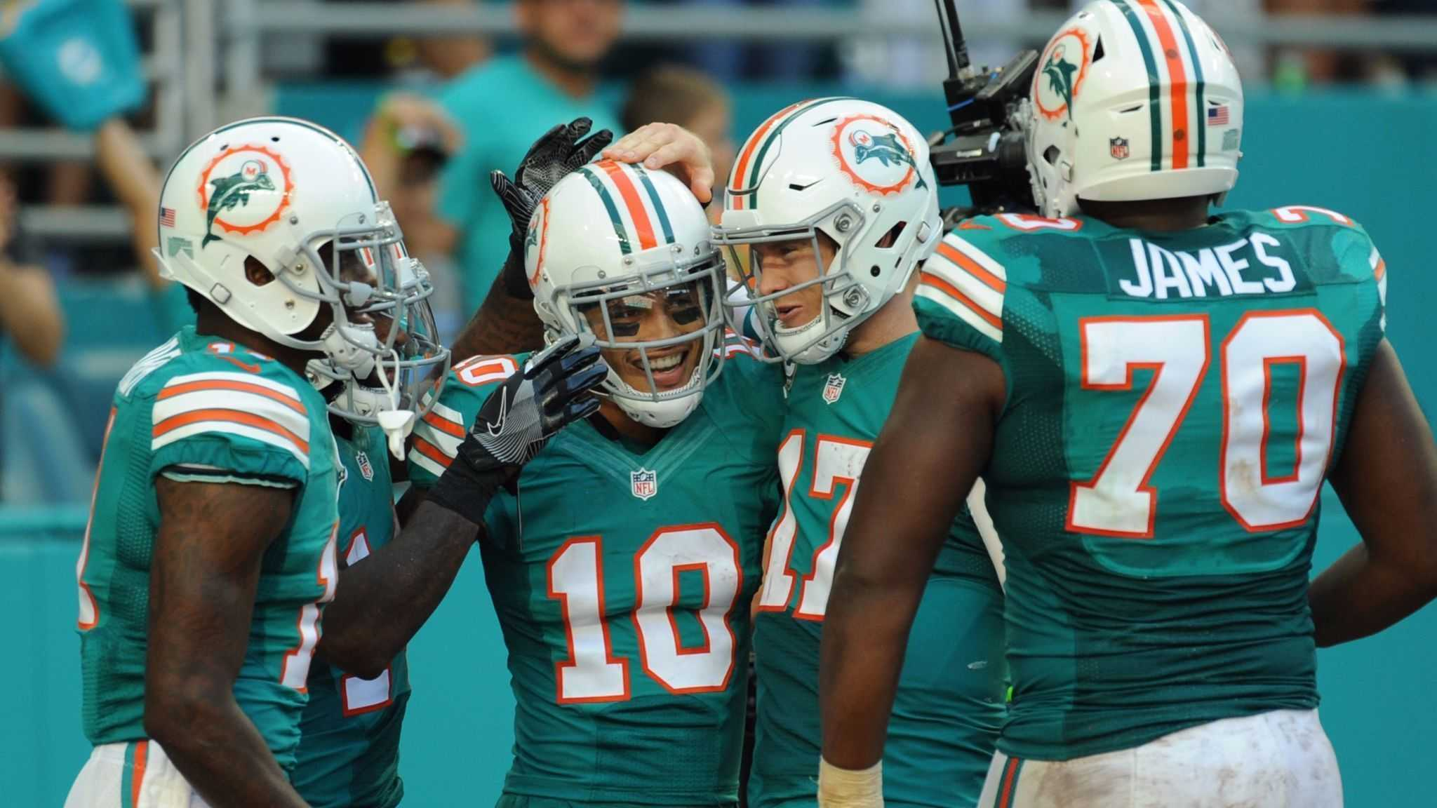 8c108e07550 We made NFL request last week to wear throwbacks again for JAX. It was  approved. See you Sunday with new (old) end zones too… go  MiamiDolphins ...