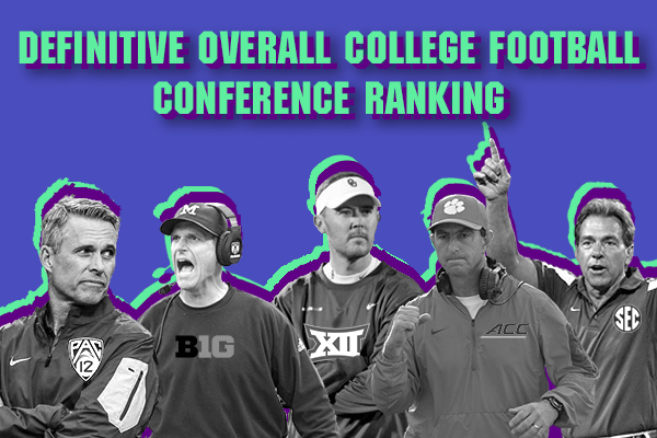 Definitive Overall College Football Conference Ranking | Belly Up Sports