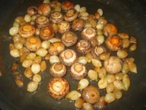 Oignons et champignons
