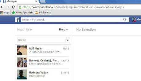 Ways to Archive Facebook Messages | Archived Messages Facebook