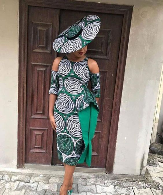 Latest Ankara Short And Pencil Gown -2021