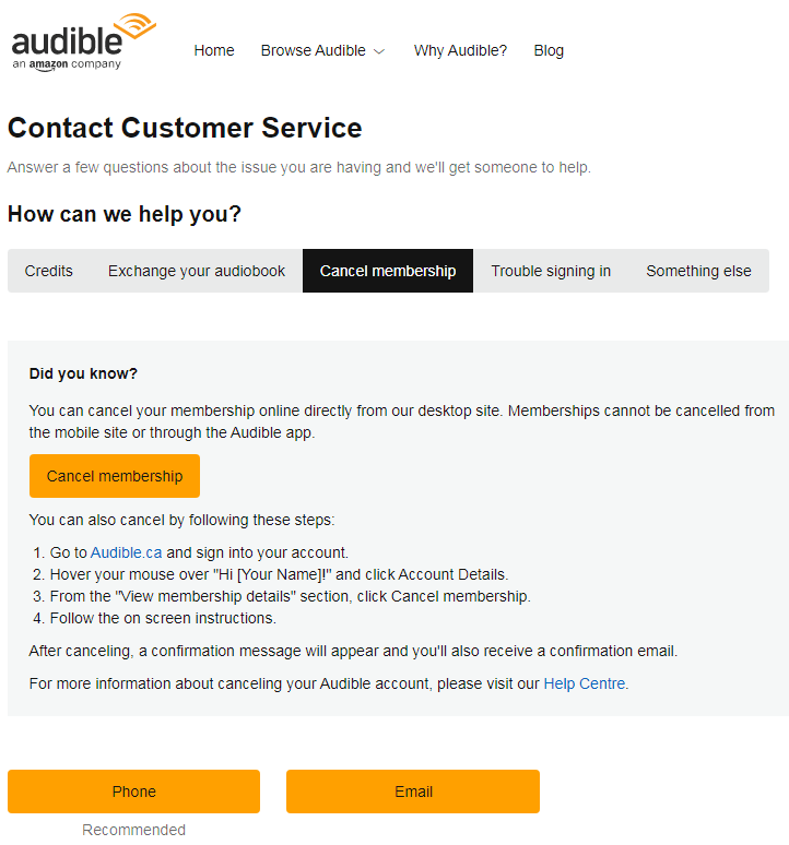 Audible - How To Delete Audible Account - Close Audible Account | Audible Login