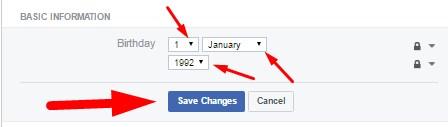 Update Your Birthday On Facebook