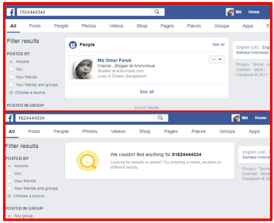 How to Find Facebook Id Using Mobile Number